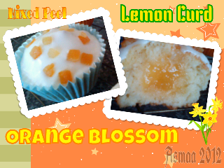 cupcake lemon orange blossom