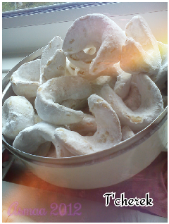 algerian sweet pastry crescent moon