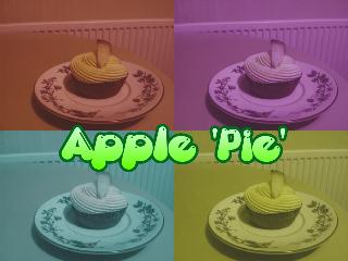 cupcake apple pop art